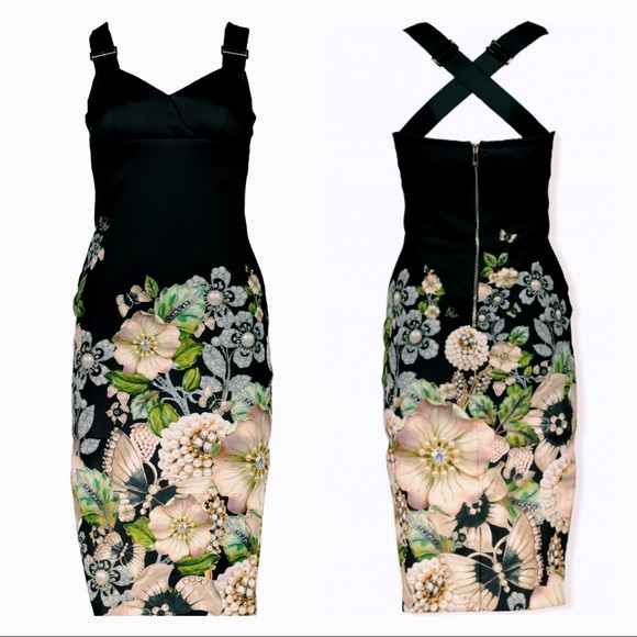 e957aaf19803fb NWT Ted Baker  Jayer Gem Gardens  Bodycon Dress